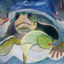 K328-G: Stone Woman & Turtle No. 1