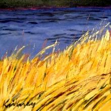 K351 Water's Edge, Morgan Bay Acrylic on panel 6 x 6