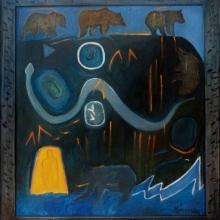 K240 Bear Dreaming, Starry Night