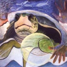 K328 Stone Woman & Turtle No. 1